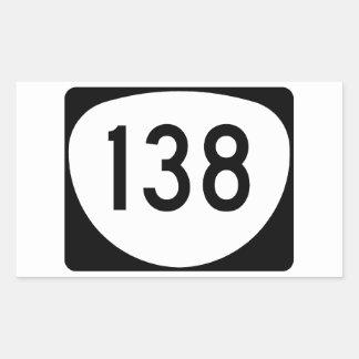 Ruta 138 de Oregon Pegatina Rectangular
