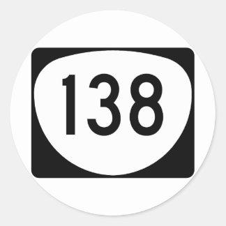 Ruta 138 de Oregon Pegatina Redonda