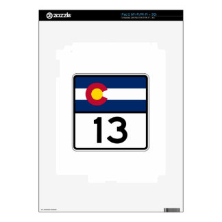 Ruta 13 del estado de Colorado Skin Para El iPad 2