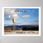 RUTA 13, poster de ITHACA, NUEVA YORK