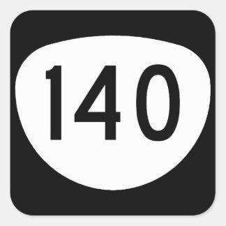 Ruta 140 de Oregon Pegatina Cuadrada