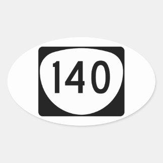 Ruta 140 de Oregon Pegatina Ovalada