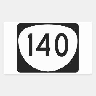Ruta 140 de Oregon Pegatina Rectangular
