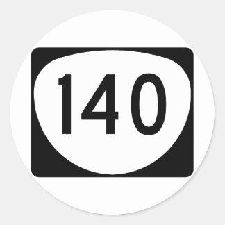Ruta 140 de Oregon Pegatina Redonda