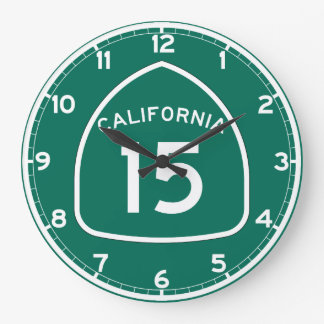 Ruta 15 del estado de California Reloj Redondo Grande