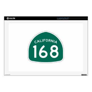 Ruta 168 del estado de California Calcomanías Para 43,2cm Portátiles