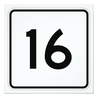 """Ruta 16 del estado de Maine Invitación 5.25"""" X 5.25"""""""