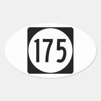 Ruta 175 del estado de Iowa Pegatina Ovalada