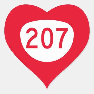 Ruta 207 de Oregon Pegatina En Forma De Corazón