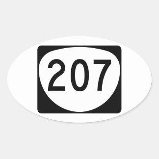 Ruta 207 de Oregon Pegatina Ovalada