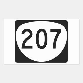 Ruta 207 de Oregon Pegatina Rectangular