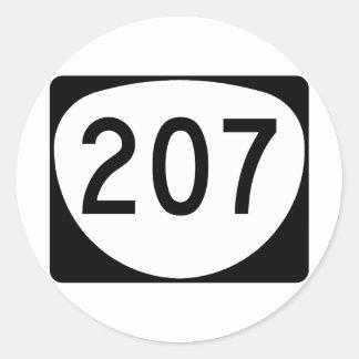 Ruta 207 de Oregon Pegatina Redonda