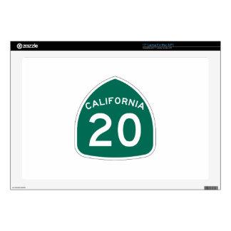 Ruta 20 del estado de California 43,2cm Portátil Calcomanía