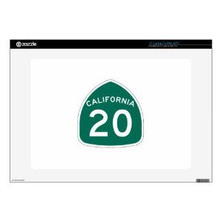 Ruta 20 del estado de California Calcomanía Para 38,1cm Portátil