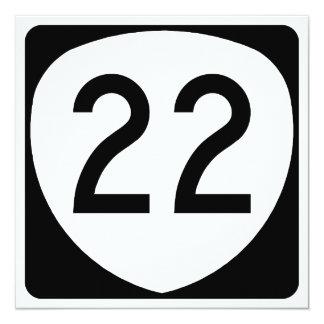 """Ruta 22 de Oregon Invitación 5.25"""" X 5.25"""""""