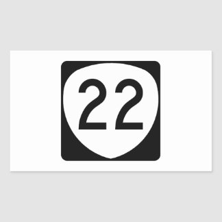 Ruta 22 de Oregon Pegatina Rectangular