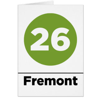 Ruta 26 - Fremont Tarjeta De Felicitación