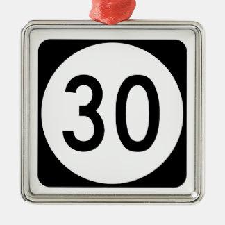Ruta 30 de Kentucky Adorno Navideño Cuadrado De Metal