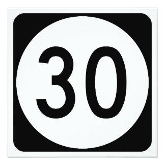 """Ruta 30 de Kentucky Invitación 5.25"""" X 5.25"""""""