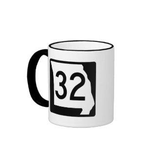 Ruta 32 de Missouri Taza De Dos Colores