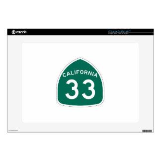 Ruta 33 del estado de California Calcomanías Para Portátiles