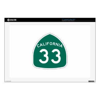 Ruta 33 del estado de California Portátil Skins