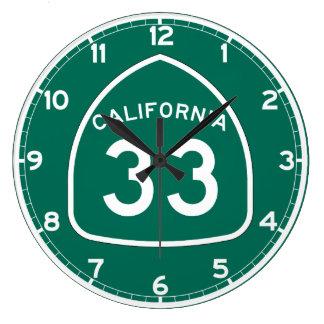 Ruta 33 del estado de California Reloj Redondo Grande