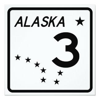 """Ruta 3 del estado de Alaska Invitación 5.25"""" X 5.25"""""""