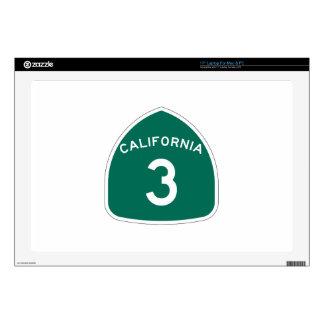 Ruta 3 del estado de California Portátil 43,2cm Skins
