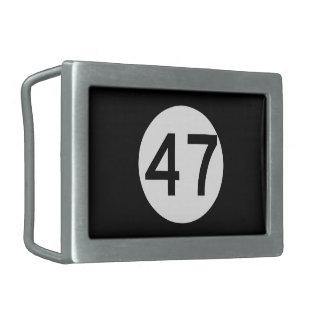 Ruta 47, New Jersey, los E.E.U.U. Hebillas Cinturón Rectangulares