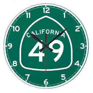 Ruta 49 del estado de California Reloj Redondo Grande