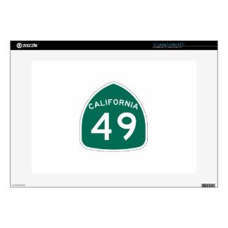 Ruta 49 del estado de California Skins Para Portátiles