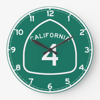 Ruta 4 del estado de California Reloj Redondo Grande