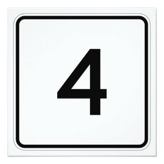 """Ruta 4 del estado de Maine Invitación 5.25"""" X 5.25"""""""