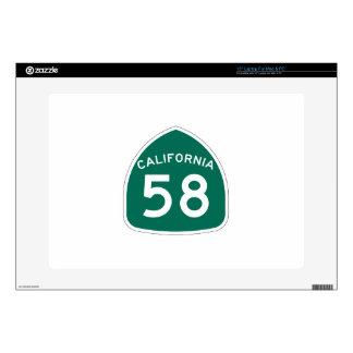 Ruta 58 del estado de California Calcomanías Para 38,1cm Portátiles