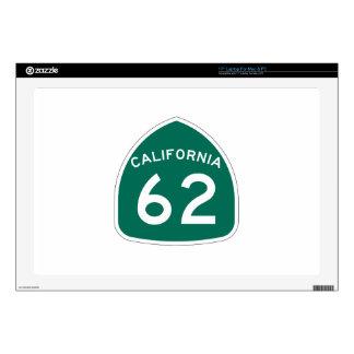 Ruta 62 del estado de California Portátil 43,2cm Skins