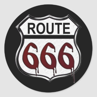 Ruta 666 pegatinas redondas