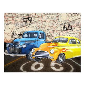 """Ruta 66 - #2 - SRF Invitación 4.25"""" X 5.5"""""""