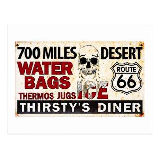 Ruta 66 - 700 millas abandonan la muestra del bord postales