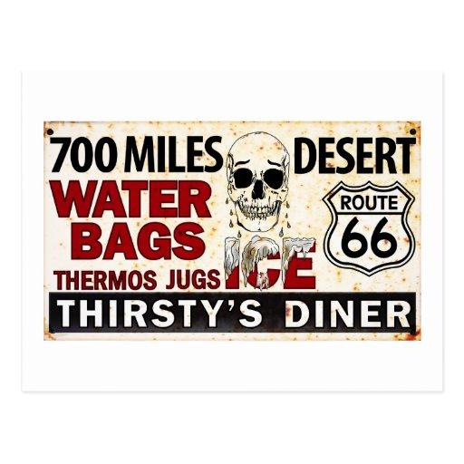 Ruta 66 - 700 millas abandonan la muestra del tarjetas postales
