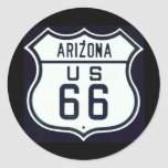 Ruta 66 Arizona Pegatina Redonda