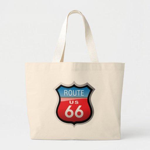 Ruta 66 bolsa tela grande