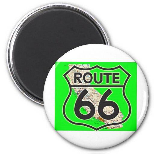 ruta 66 California1 verde Imán Para Frigorífico