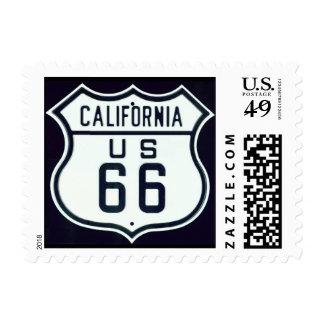 Ruta 66 California Estampillas