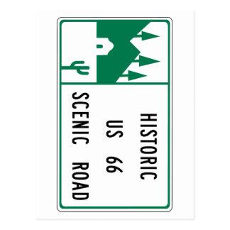 Ruta 66 - Camino escénico de los E.E.U.U. 66 histó Postal