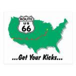 Ruta 66: Consiga sus retrocesos Postal
