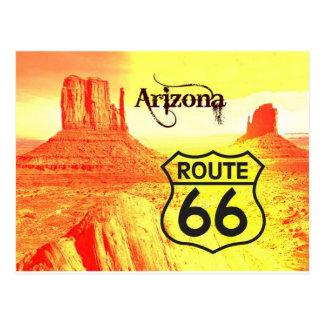 Ruta 66 de Arizona Tarjetas Postales
