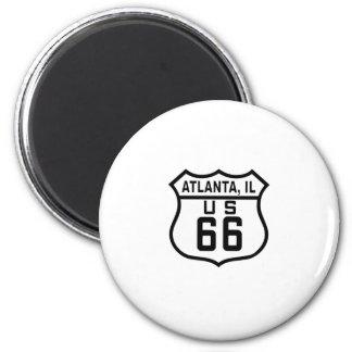 Ruta 66 de Atlanta Illinois Iman De Frigorífico