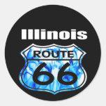 Ruta 66 de Illinois Etiqueta Redonda