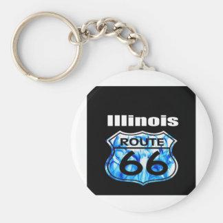 Ruta 66 de Illinois Llavero Personalizado